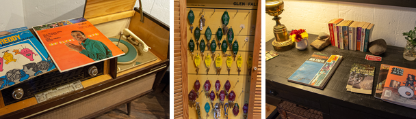 Vintage vinyl, rooms keys & collateral