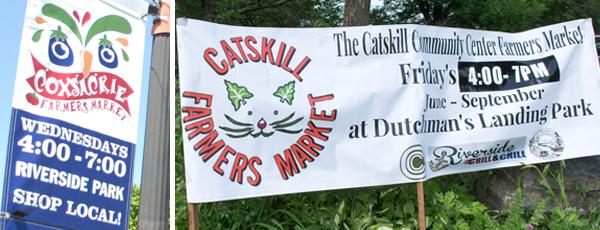 Farmers market signs